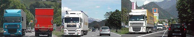 Lkw-Durchzugsverkehr